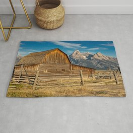 John Moulton Barn and Grand Teton Rug