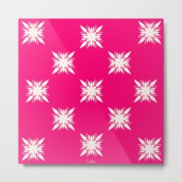Magenta pink ornamental pattern Metal Print