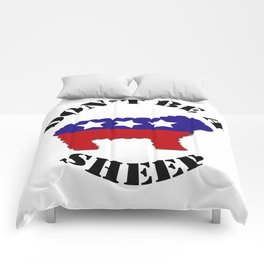 """Funny """"Don't Be a Sheep"""" (USA) Political Sheep Comforters"""