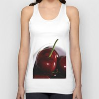 cherry Tank Tops featuring Cherry by LoRo  Art & Pictures