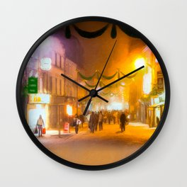 The Holidays In Galway Ireland Wall Clock