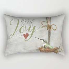 A Spoonful of Hummingbird Rectangular Pillow