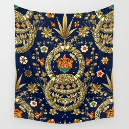 Art Nouveau Floral Pattern Wall Tapestry