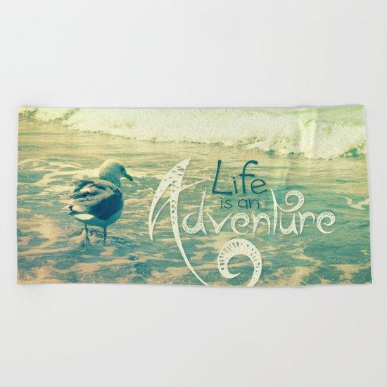 California Beach Seagull Beach Towel