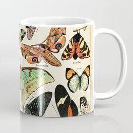 Papillon I Vintage French Butterfly Charts by Adolphe Millot Coffee Mug