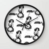 baking Wall Clocks featuring Baking in Heels. by Dana Trijbetz