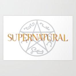 Supernatural grey orange Art Print
