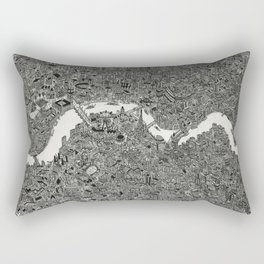 London map drawing ink pen Rectangular Pillow