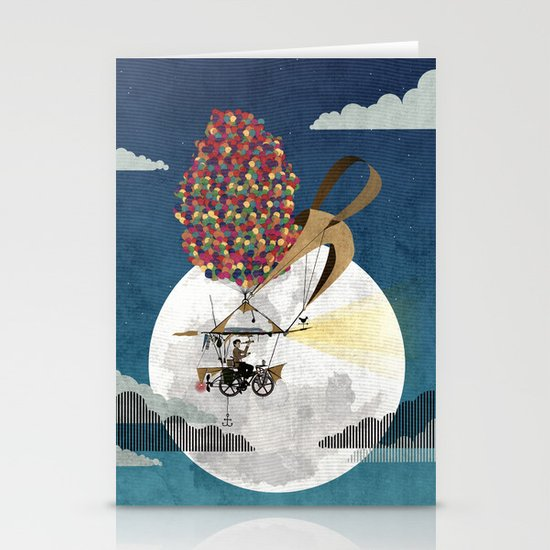 Flying Bicycle Stationery Cards