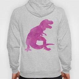 Purple Pink Watercolor Dinosaur Silhouette Pattern Hoody