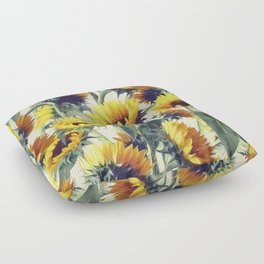 Sunflowers Forever Floor Pillow