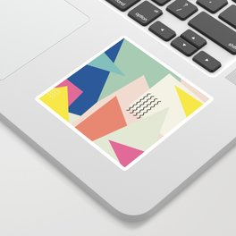 Shapes and Waves Sticker