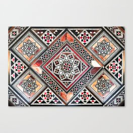 Syrian marquetry work traditional art Canvas Print