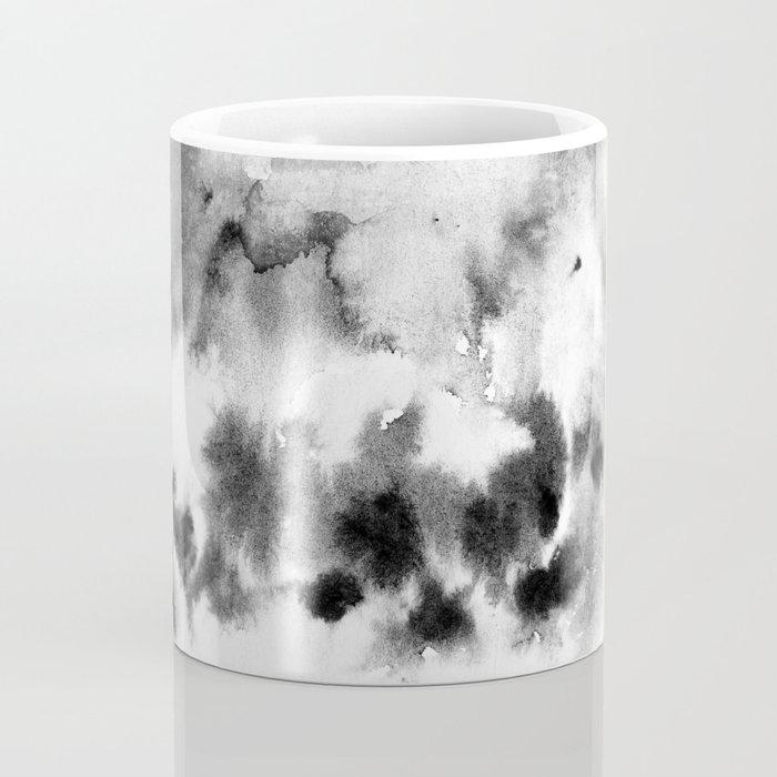 MINIMAL BLACK AND WHITE SPLATTER PATTERN Coffee Mug