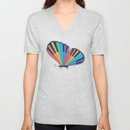 Musical Butterfly (Musical Rainbow) Unisex V-Neck