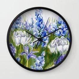 Delphinium Garden Wall Clock
