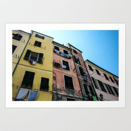 Vernazza Buildings Art Print