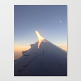 Sunlight on a Plane Wing Canvas Print