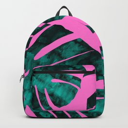Composition tropical leaves IX Backpack