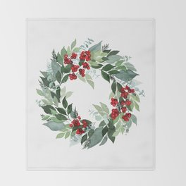 Holly Berry Throw Blanket