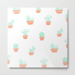 Cactus pastel Metal Print