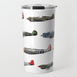 Pattern of World War 2 Fighter Planes Travel Mug