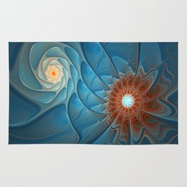 Together, Abstract Fantasy Fractal Art Rug