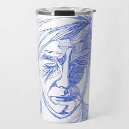 Andy portrait (Blue) Travel Mug
