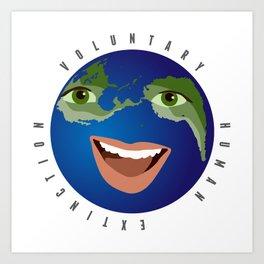 voluntary human extinction | part i Art Print