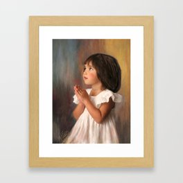 Precious child praying Framed Art Print