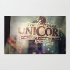 The Unicorn Pub Canvas Print