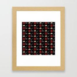 Dead pool pattern Framed Art Print