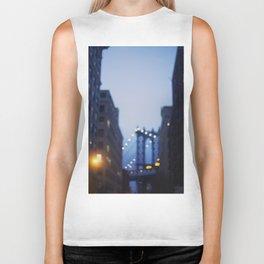 Manhattan Bridge at Night II Biker Tank