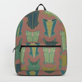 18th Century Corset Stays Illustrated Pattern Print Backpack