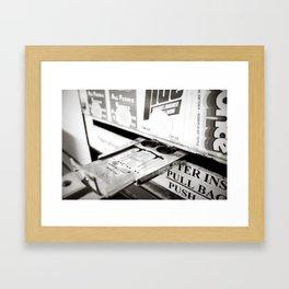 Laundry Hand Framed Art Print