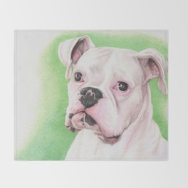 The White Boxer Throw Blanket