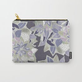Mauve gray lavender silver watercolor floral Carry-All Pouch