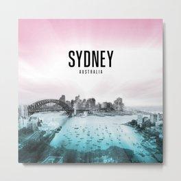 Sydney Wallpaper Metal Print