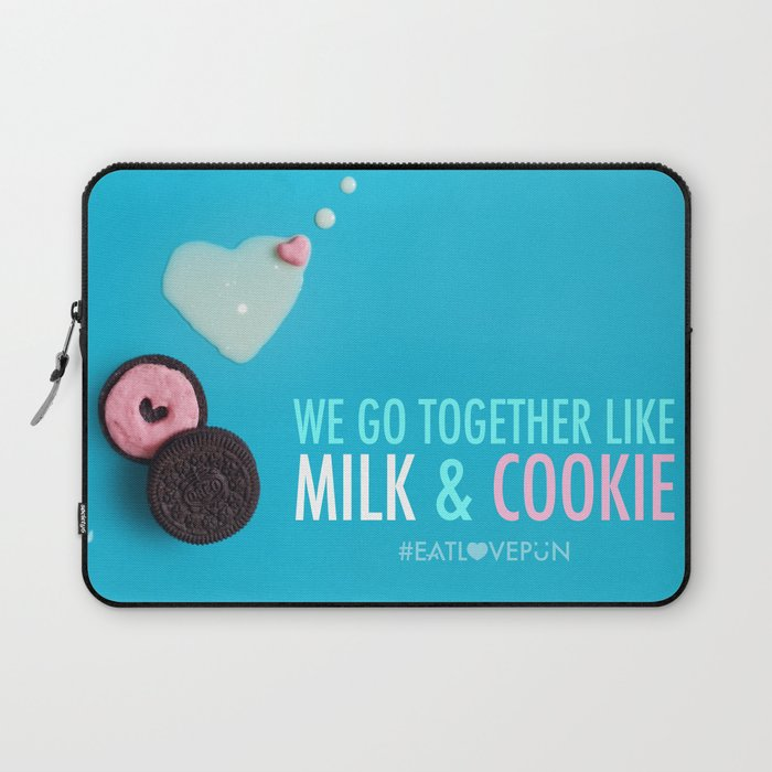 We Go Together Like Milk & Cookie Laptop Sleeve