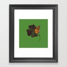 By Chance - Green Framed Art Print
