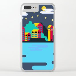 Town on island Clear iPhone Case