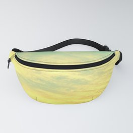Green Yellow Sunset Fanny Pack