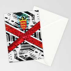 circuit board jersey (flag) Stationery Cards