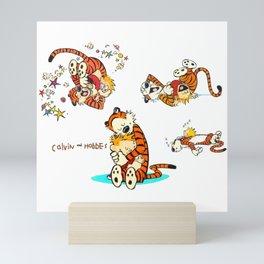 Calvin and Hobbes all Mini Art Print