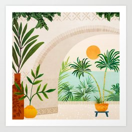 Baja Seaside Landscape Art Print