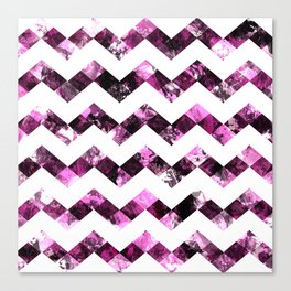 Purple Zig Zags I Canvas Print