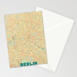 Berlin Map Retro Stationery Cards