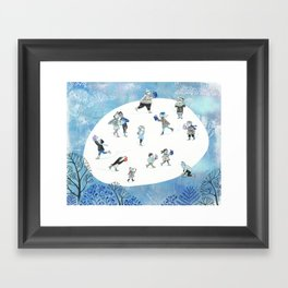 Ice Skating Fun Framed Art Print