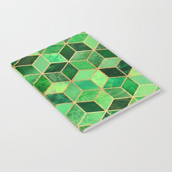 Green Cubes Notebook