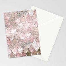 SUMMER MERMAID NUDE ROSEGOLD by Monika Strigel Stationery Cards